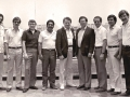 1984 en Lima, Peru. De Izquiera a derecha R. Loguzzo - C Barbieri - J. Miron - M Ortiz - Luis Palau - J Guillermo - J Caballero -  R Proietti